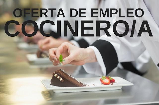 Oferta de empleo cocinero / cocinera