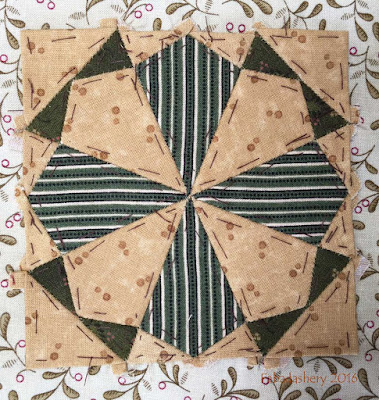 Dear Jane Quilt - Block F2 Kaleidoscope