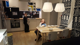 Dan Jon Jr and Top Ender in an Ikea room set.