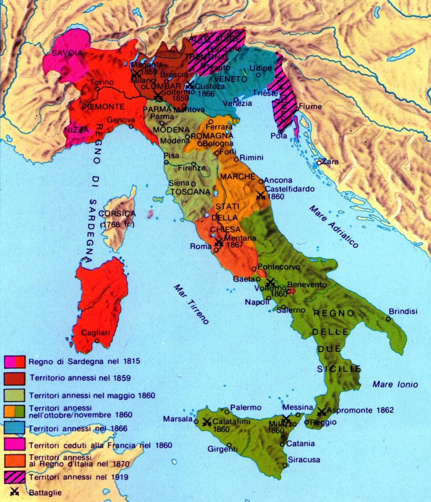 Cartina Dell Italia 1815.Storia Storia Dell Europa N 67 Dal 1 800 Al 1 861 E V D C