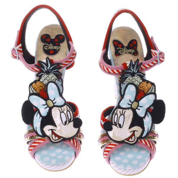 irregular choice disney tropical minnie mouse sandals top view