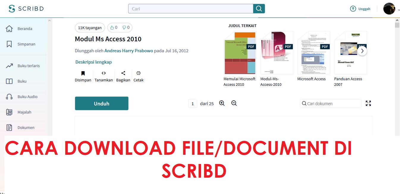 Gratis Cara Mudah Download File Document Di Scribd Ahmaddzaki