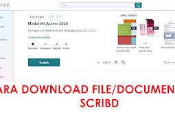 Gratis !! Cara Mudah Download File/Document di SCRIBD