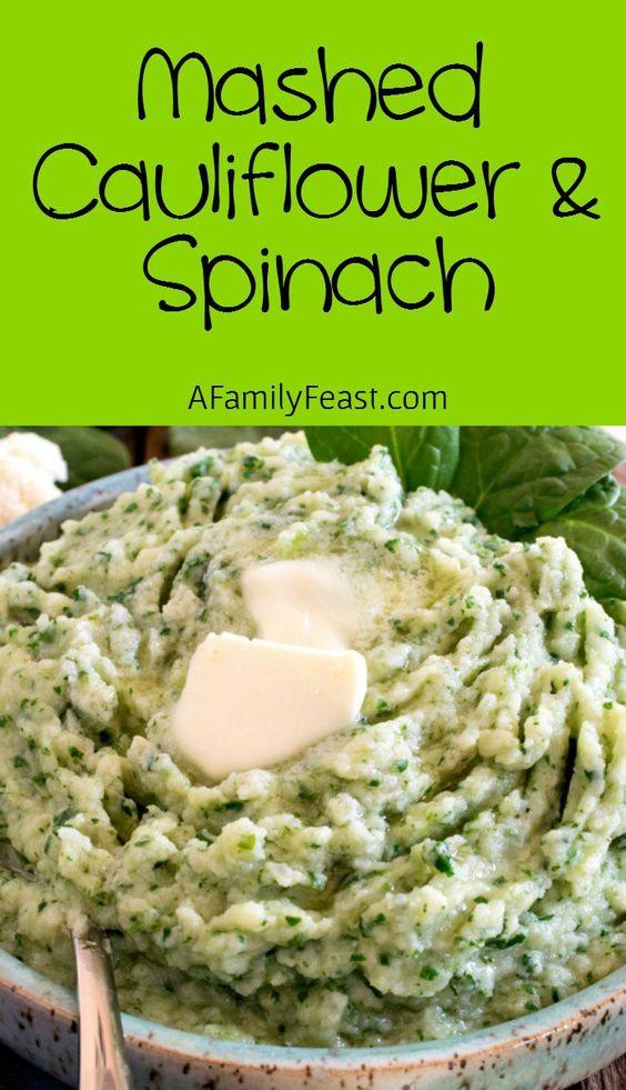 Mashed Cauliflower And Spinach #mashed #caulifllower #spinach #veggies #vegetarianrecipes #vegetables #veganrecipes
