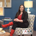 HALL OF FAMER KELLY NYBERG BRILLIANTLY DEBUTS A PAIR OF BRILLIANTLY BRIGHT RED SUEDE BOOTS!!!