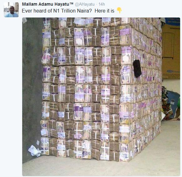 What 1 Trillion Naira Looks Like Photo