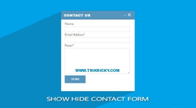 Membuat Show Hide Contact Form Di Halaman Blog