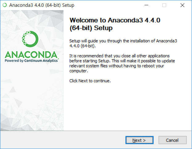 Anaconda3 설치 - 시작은 가볍게, 넥스트!