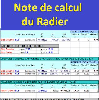 note de calcul radier excel  note de calcul radier général  note de calcul d'un radier en béton armé  note de calcul d'un radier en béton armé pdf  note de calcul radier pdf  note de calcul d'un radier