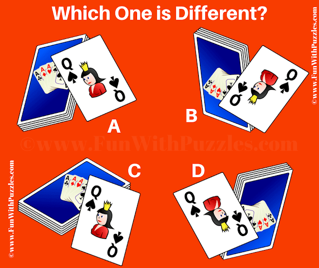 It is the Odd One Out Picture Riddle in which your challenge is to find the different picture among four given cards images