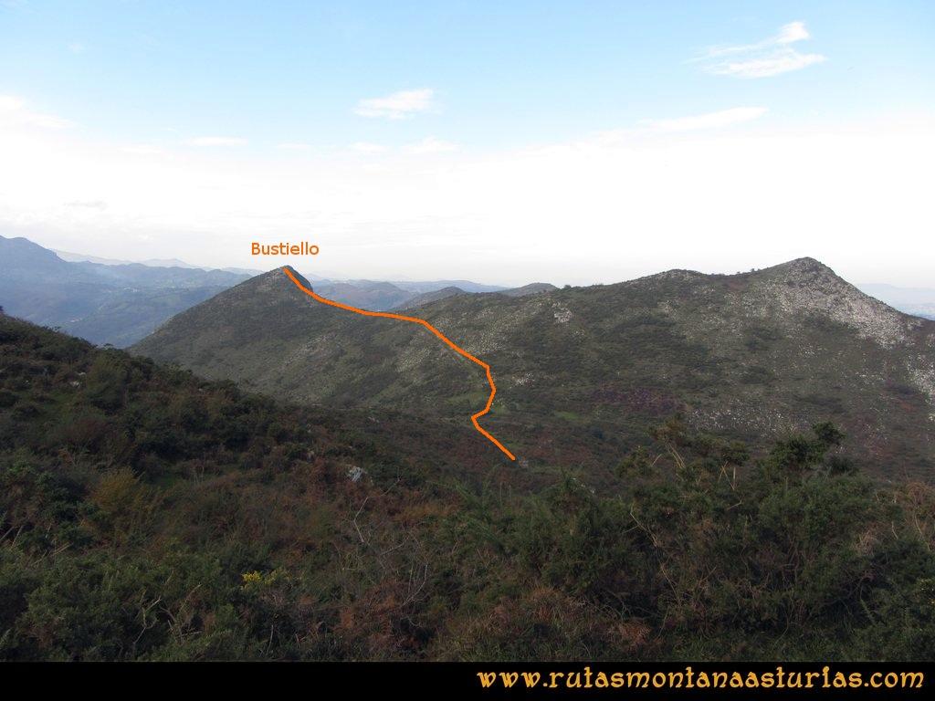 Ruta Baiña, Magarrón, Bustiello, Castiello. Del Pico Magarrón al Bustiello