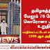 தமிழகத்தில் புதிதாக 76 பேருக்கு கரோனா வைரஸ் நோய்த் தொற்று இருப்பது உறுதி செய்யப்பட்டுள்ளது