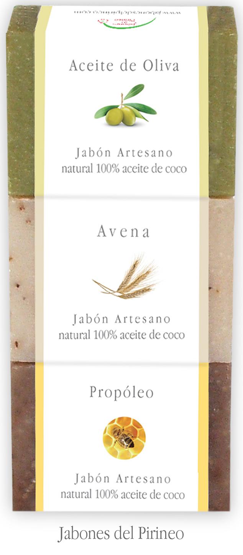 Pack Jabones Aceite de Oliva, Avena y Propóleo