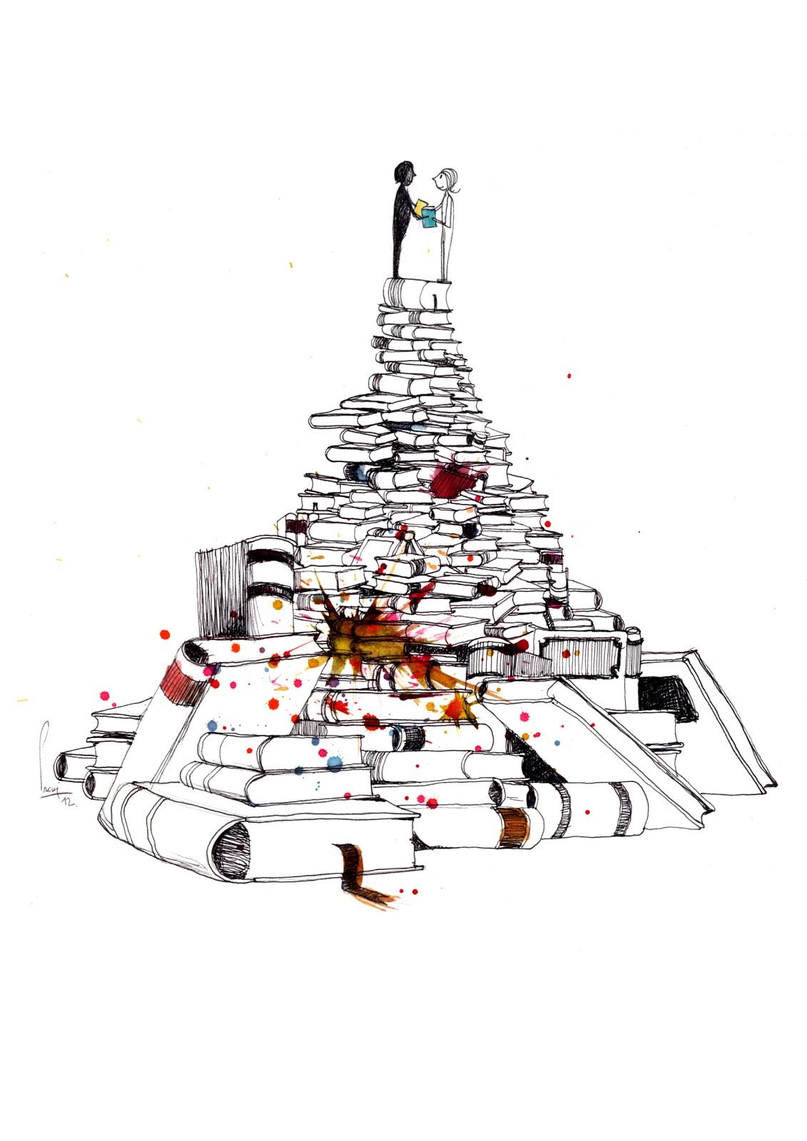 La Hoja De La Biblioteca Cruce De Libros En La Biblioteca