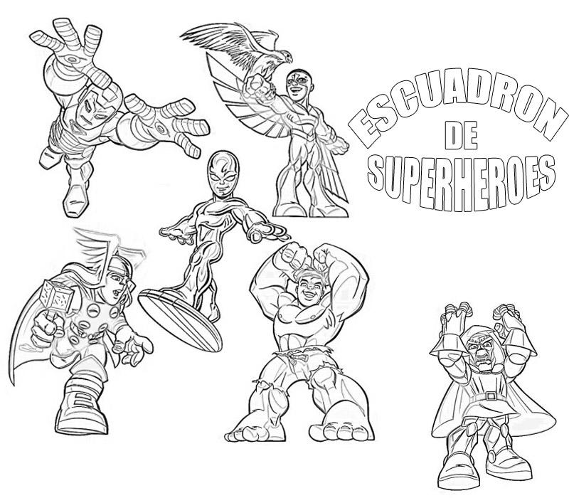 Dibujo Del Escuadron De Superheroes Para Colorear Dibujos Para