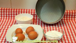 Receta bizcocho 3 ingredientes