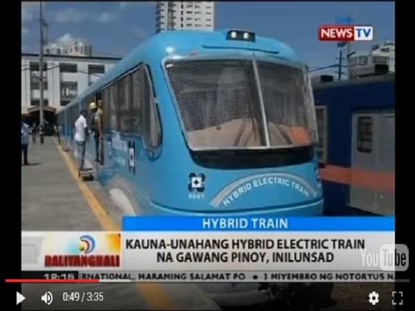 KAUNA-UNAHANG ELECTRIC TRAIN NA GAWANG PINOY, INILUNSAD.