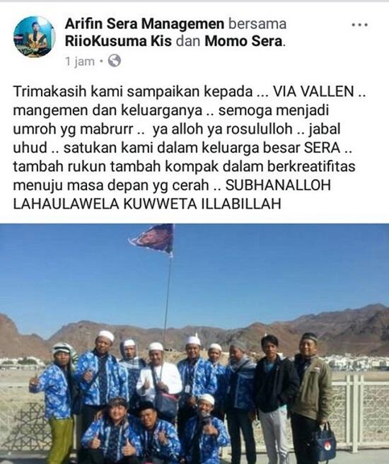 Via Vallen Berangkatkan Semua Personel OM SERA Ibadah Umroh