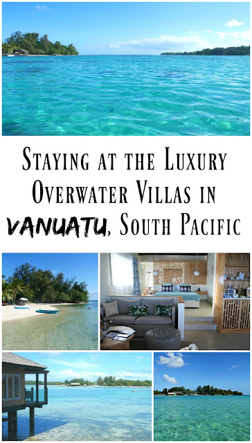 PIN FOR LATER: Staying in the luxury overwater villas at Warwick le Lagon Vanuatu, South Pacific