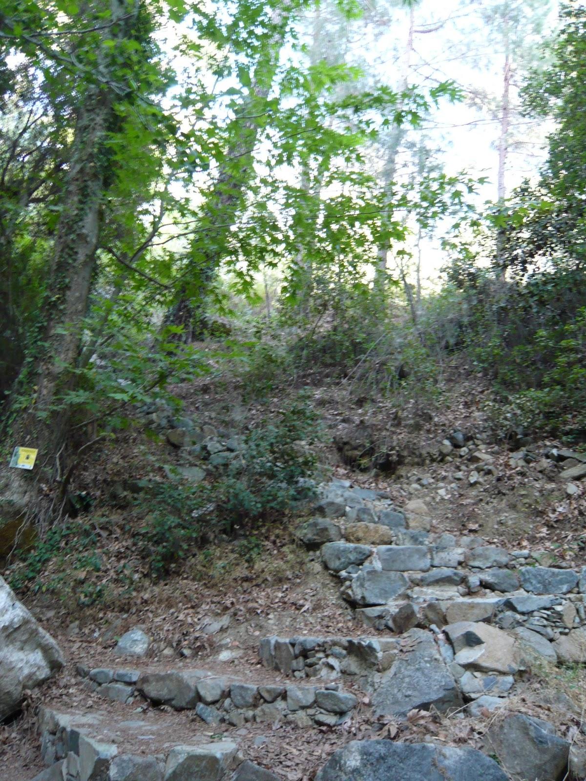 Kids have Fun in Cyprus: Chantara waterfall and Omodos village