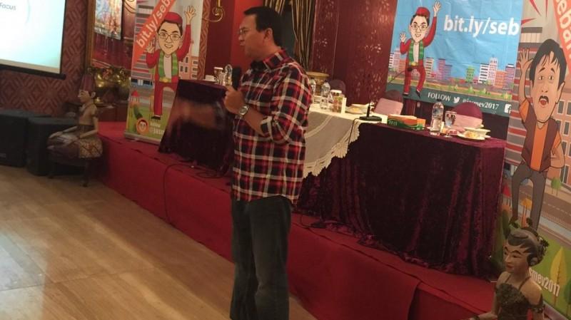Ahok tampil dalam acara workshop Jasmev 2017