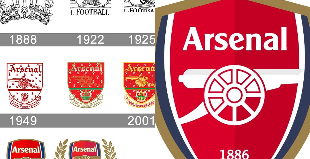 39523578626 Now soccer crest concept maker  socceredesign has created a redesigned Arsenal  FC logo