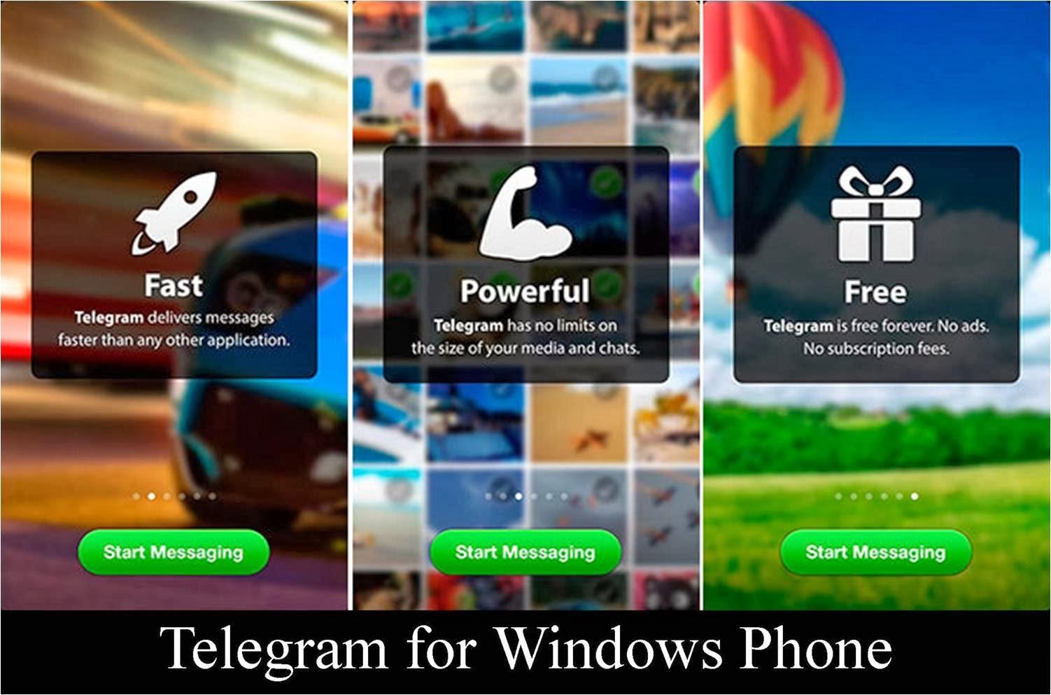 Telegram app on Windows phone