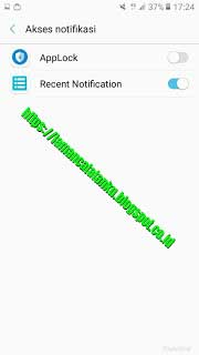 Akses notifikasi aktif