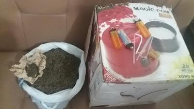 Personil Sat Narkoba Siantar Ciduk Badi Tarigan Diduga Miliki Ganja seberat 720 Gram