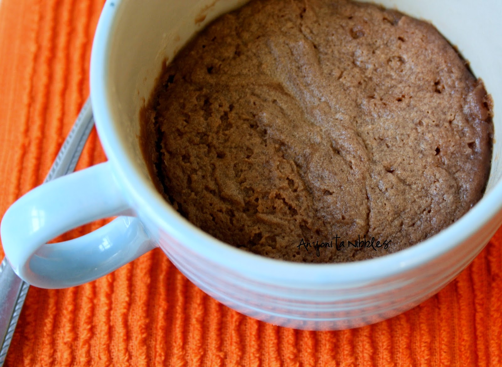 Microwave mug cookie for one from Anyonita Nibbles