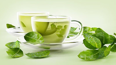 brighten the face with green tea