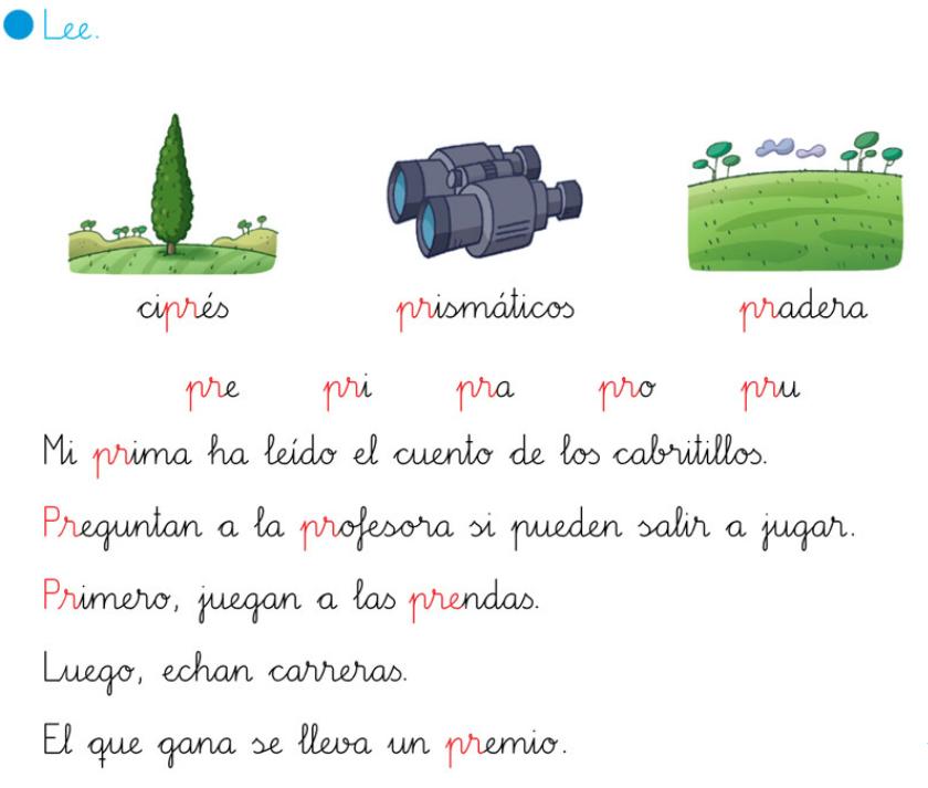 Silabas Para Aprender Leer