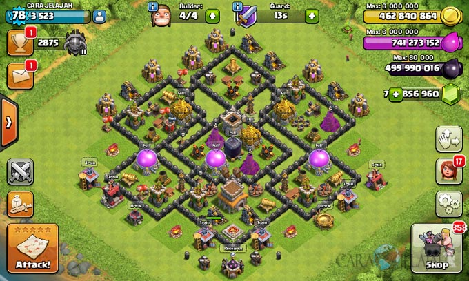 Susunan Formasi Base War TH 8 Update Terbaru 15