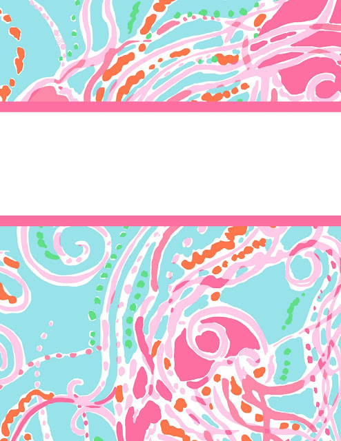 lilly pulitzer binder cover free printable jellies be jammin jellyfish print studying organization preppy southern style brand