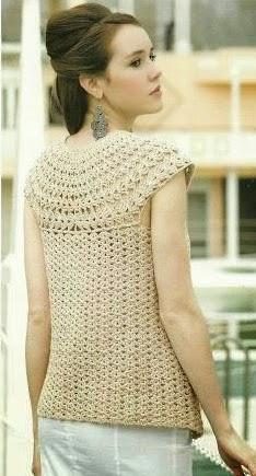 Chaleco a Crochet