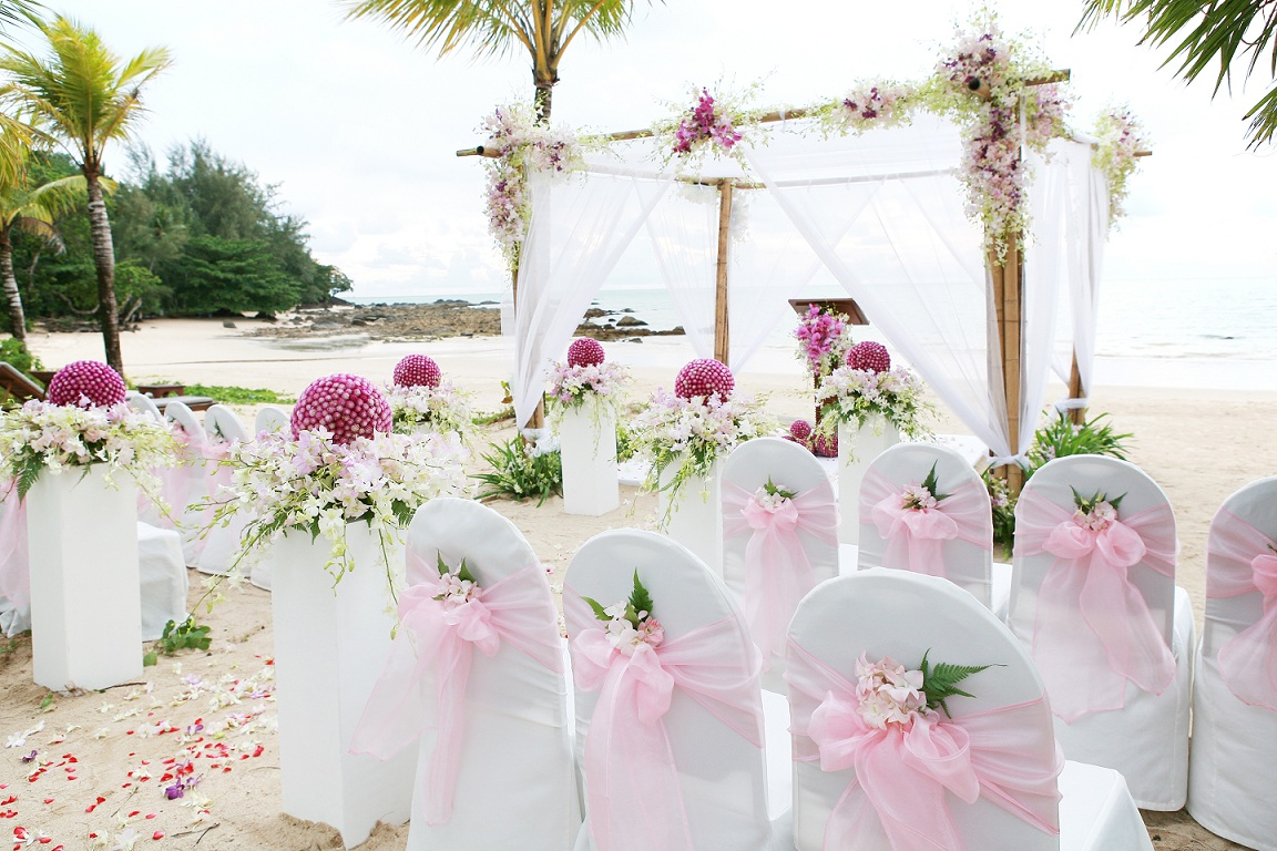 Beach Wedding Chair Decoration Ideas Pompon Nailhead Side Hochzeitsfieber Blog Strandhochzeit
