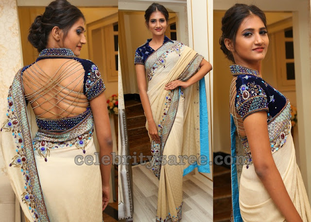 Mounika Chowdary Designer Saree