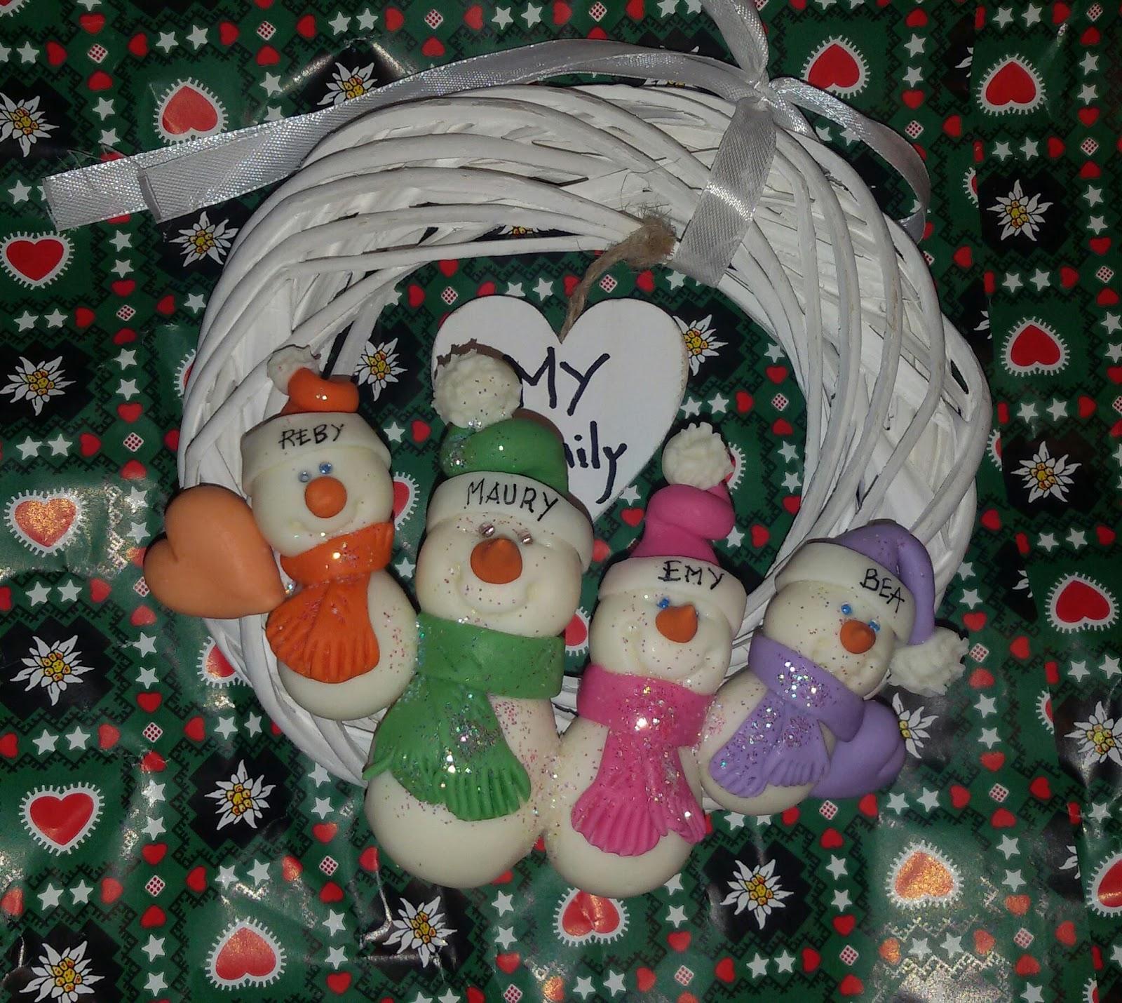 Deco gifts creazioni in pasta di mais decorazioni for Decorazioni natalizie personalizzate
