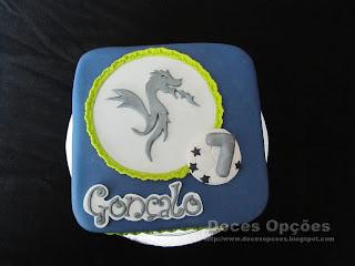 Bolo para o aniversário do dragão Gonçalo