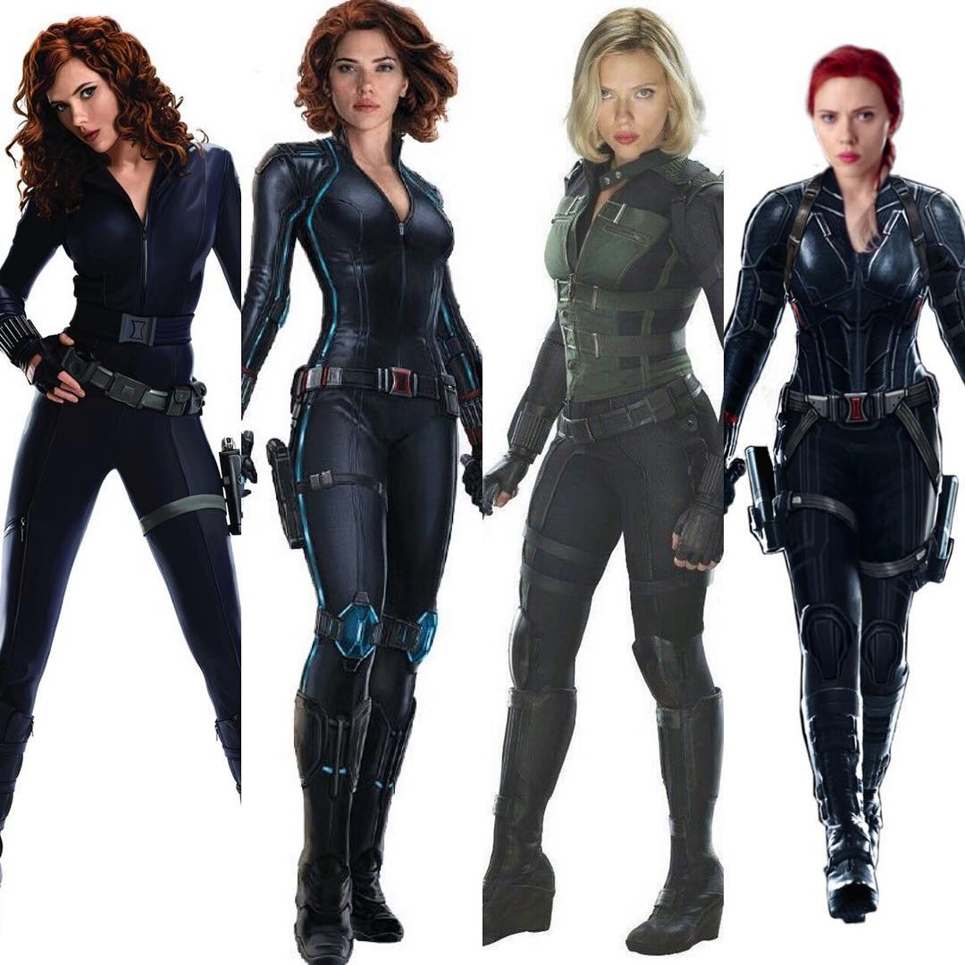 Scarlett Johansson as Black Widow in Marvel Cinematic Universe