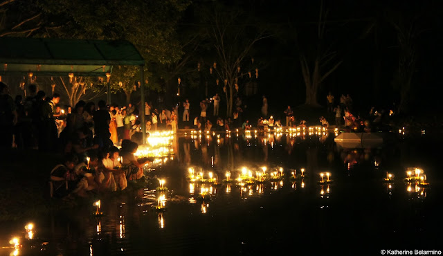 Krathongs at Yeepeng Lanna International Floating Lantern Festival, Chiang Mai, Thailand