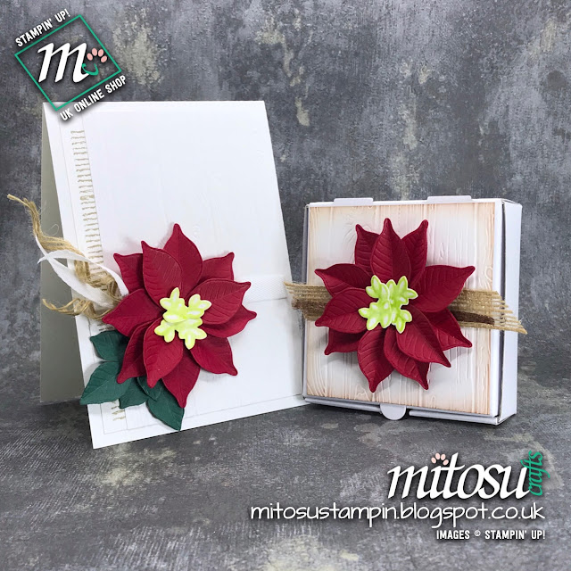 Stampin' Up! Nature's Root Poinsettia Papercraft Ideas. Order Craft Products from Mitosu Crafts UK Online Shop