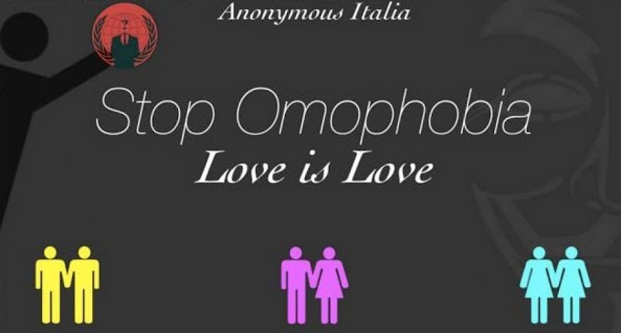 "Foto | Anonymous Attacca e Oscura Il Sito Del Family Day ""Stop Omophobia Love is Love"""