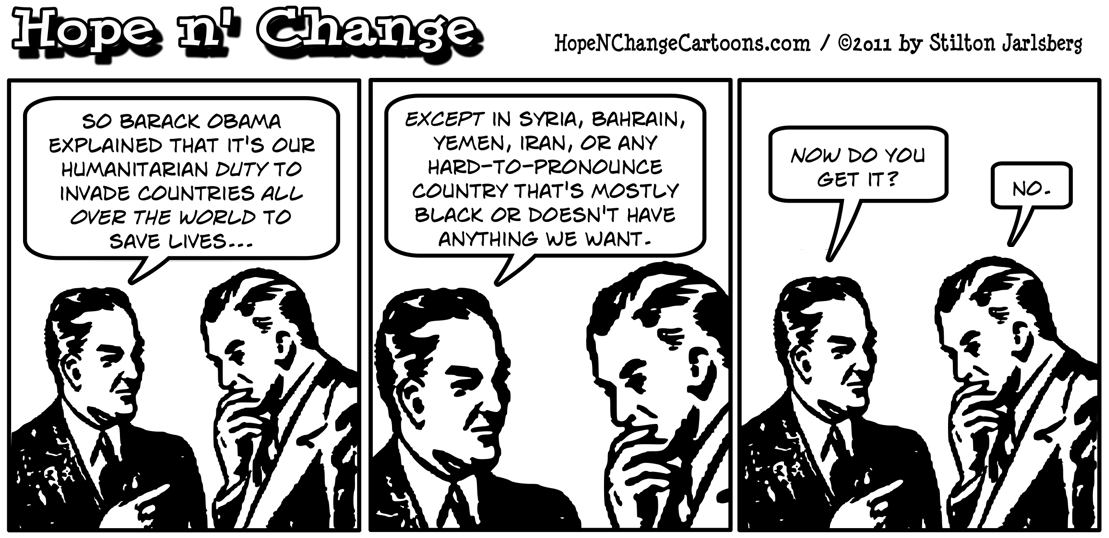 Barack Obama's speech on Libyan war only adds to the confusion, hope n' change, hopenchange, hope and change, stilton jarlsberg