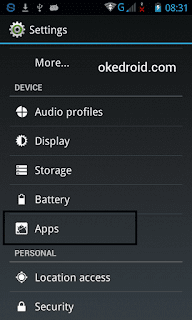 Pilih Apps Setting Android