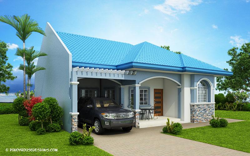 Myhouseplanshop Delightful Three Bedroom Blue Roof House Plan