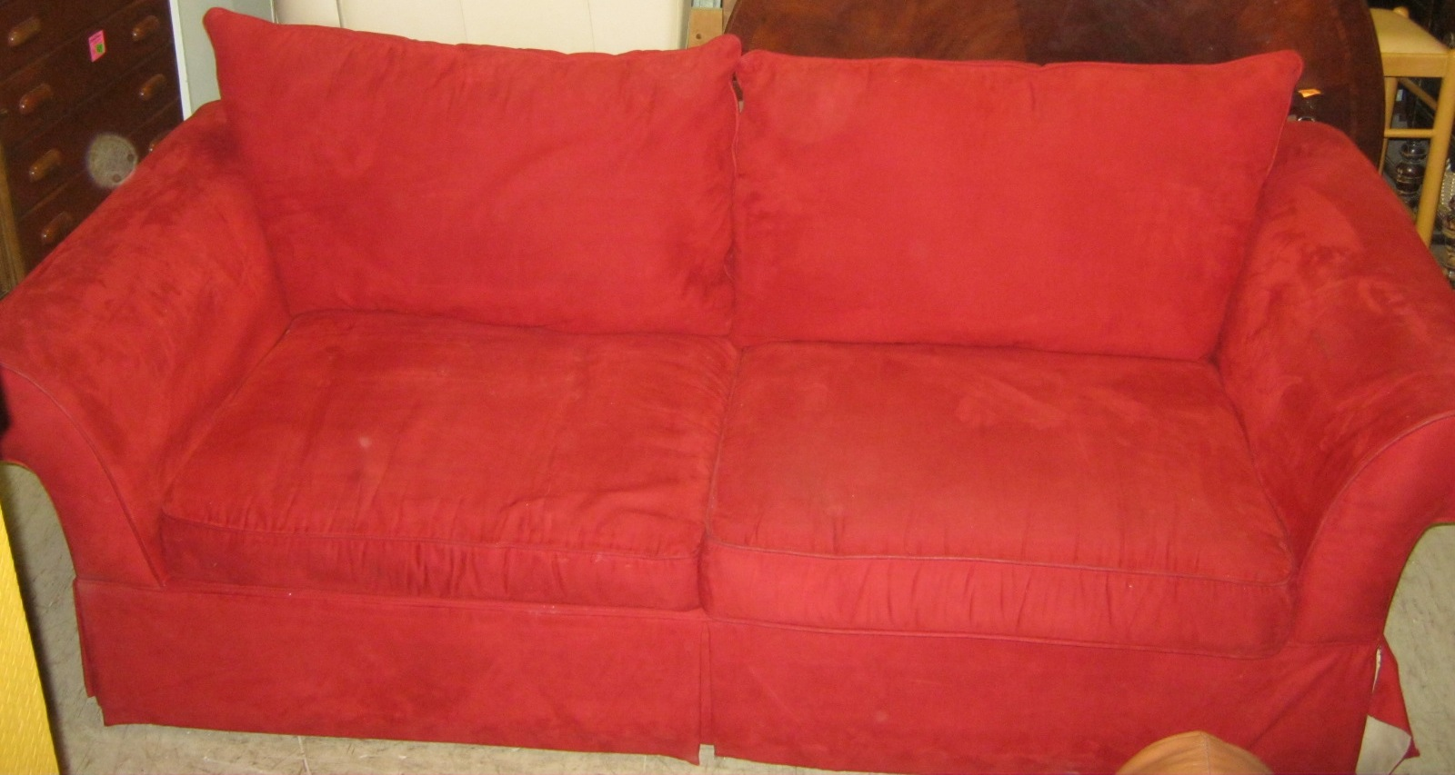 Red Microfiber Sofa Sofa Trendz B Red Microfiber And