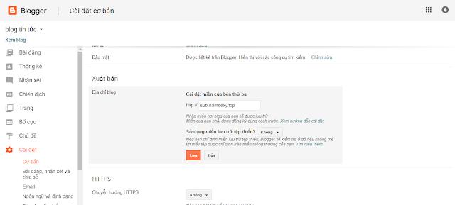 Hướng dẫn tạo subdomain cho blogger cực kì đơn giản cho blogger, blogspot