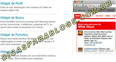 widgets do twitter para blogs