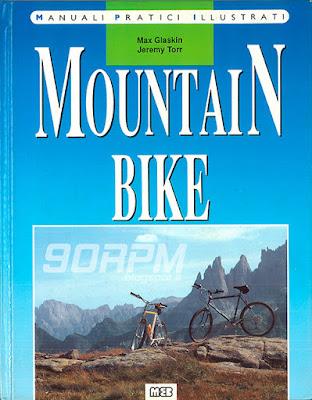 Foto della copertina a colori del primo manuale sulla mountain bike pubblicato in Italia.